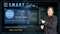 Multi-purpose laser tag design for your business